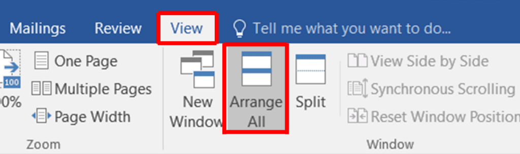 splitting a word document into sections