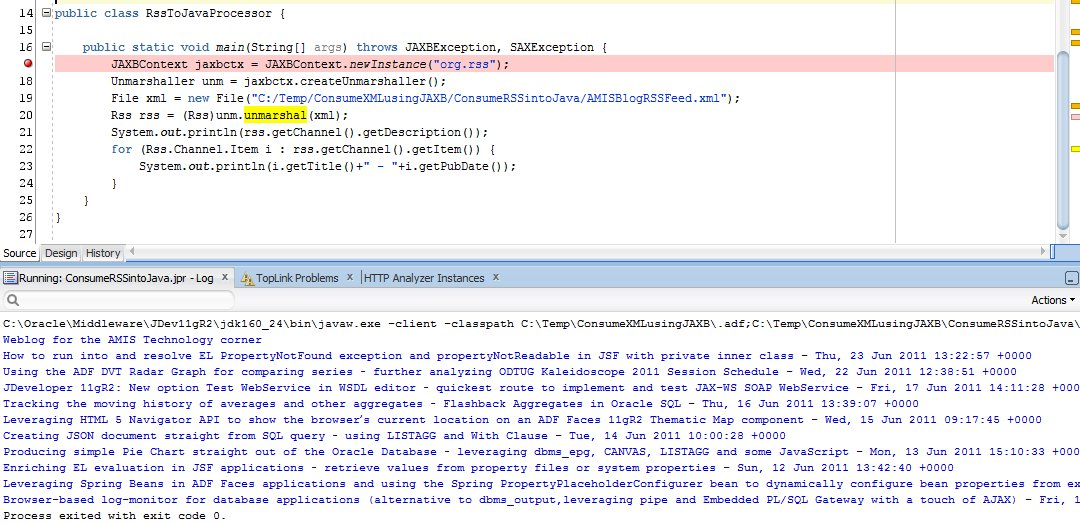 read an xml document into an object
