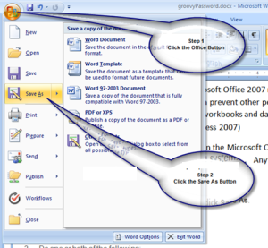 how to password protect a word document 2007