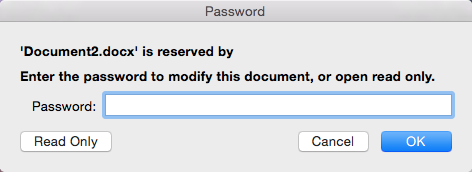 remove password from word document mac