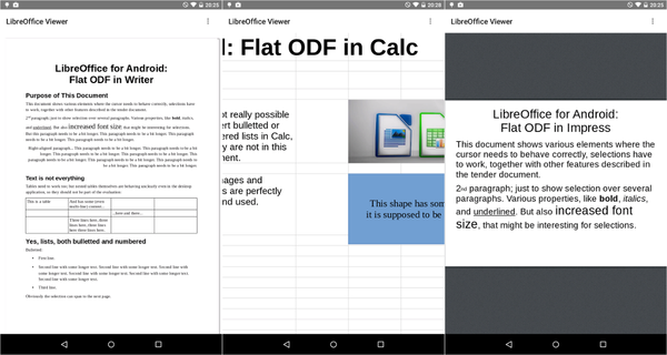 how to modify libreoffice document in android