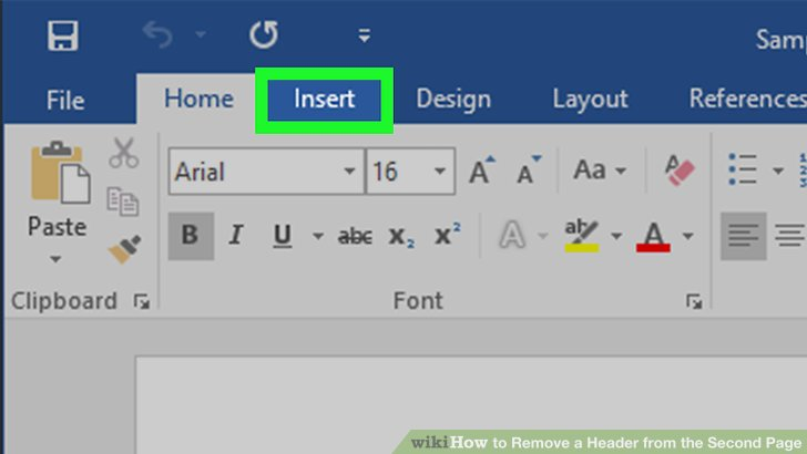 how to remove header from word document