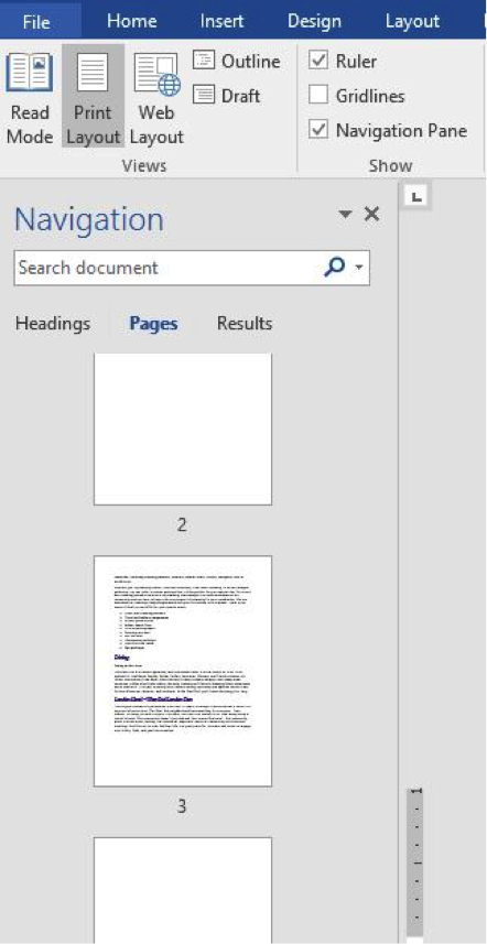 how to delete page on word document