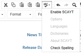spell check only working part document