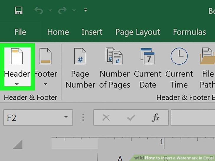 insert watermark in excel document