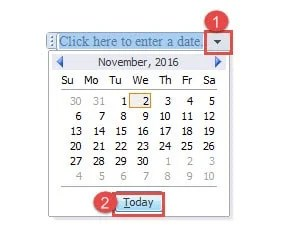 can i insert a calendar into a word document