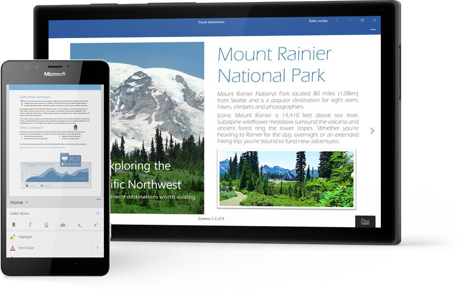 word document app for tablet