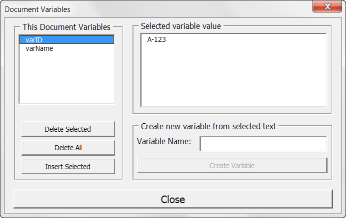wordperfect document review variables delete