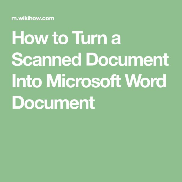 how to insert a scanned page into a word document