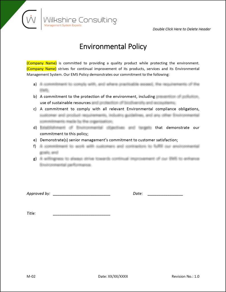 iso 9001 2015 document control procedure example