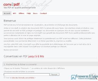 convertir document en pdf gratuit