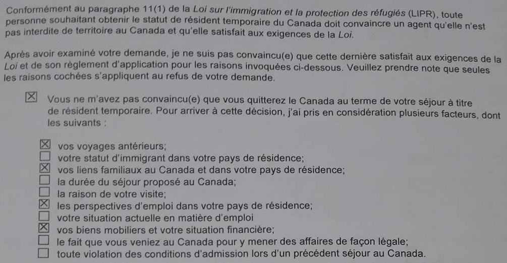 document a fournir pour visa de parrainage pour le quebec