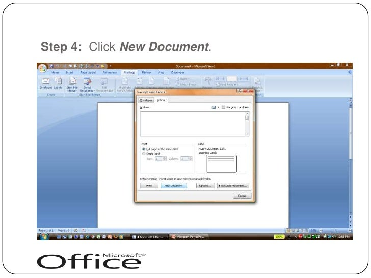 avery word document business card layout
