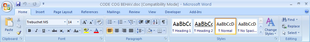 check the document for compatibility with word 2007