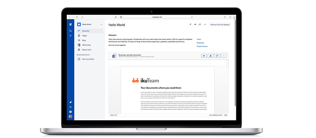 confluence create page from word document
