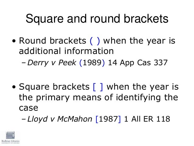 what do square brackets mean in a legal document