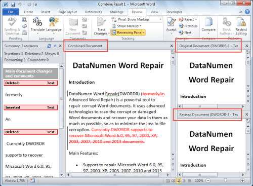 how to recover document in word 2010