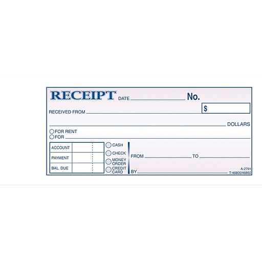 receipt for document pick up