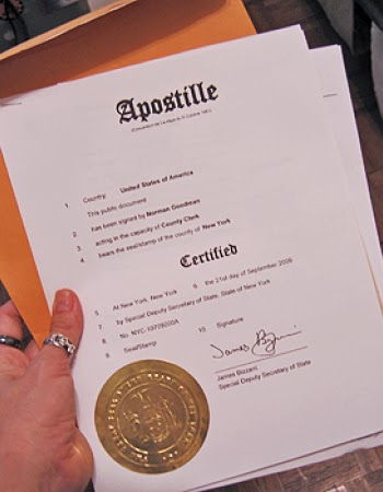 how to apostille a document in india