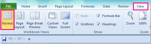 insert header in excel document