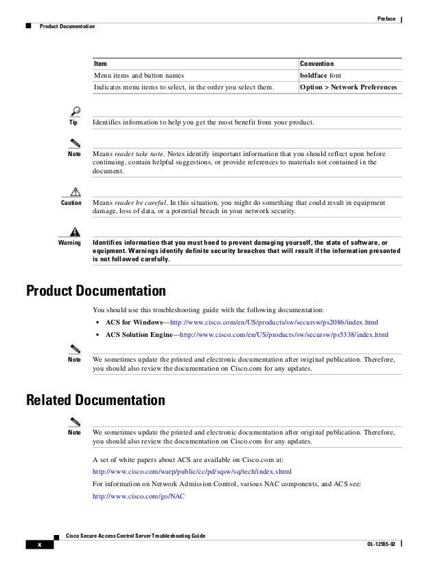 acs serveur cisco documentation