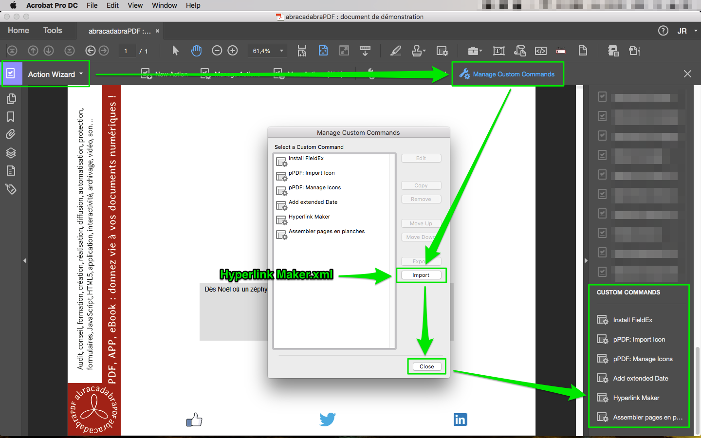 adding hyperlinks to a photoshop document