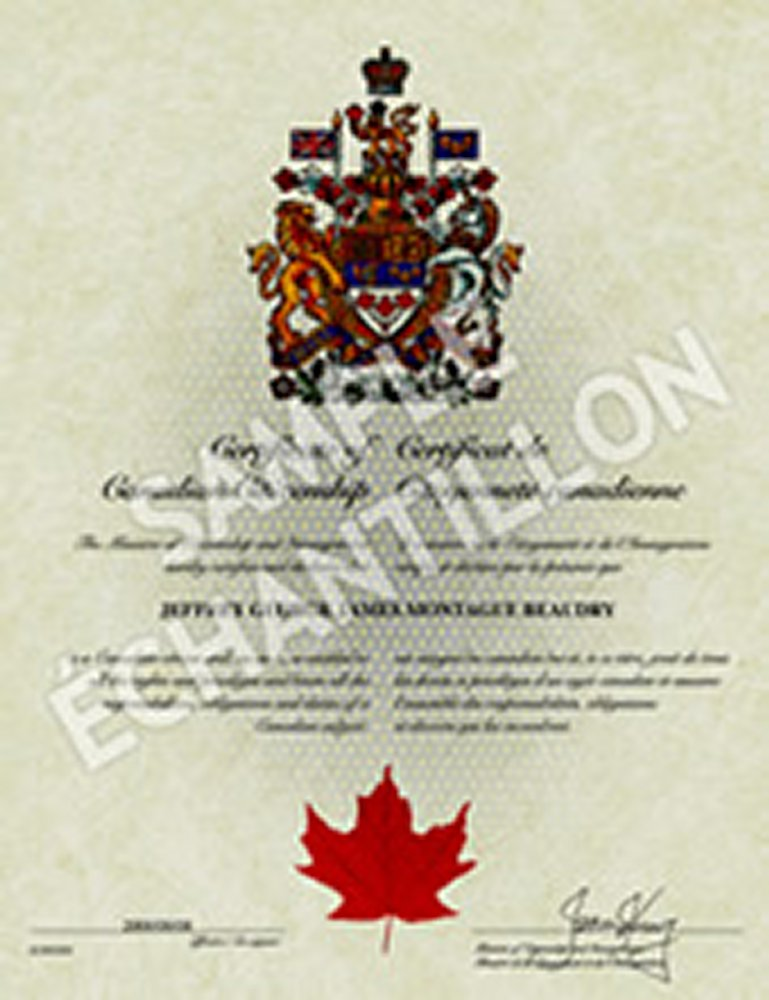 applying for replacement of landed document with citizenship canada