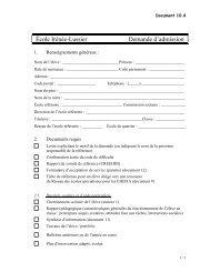 document de transfert commision scolaire de laval