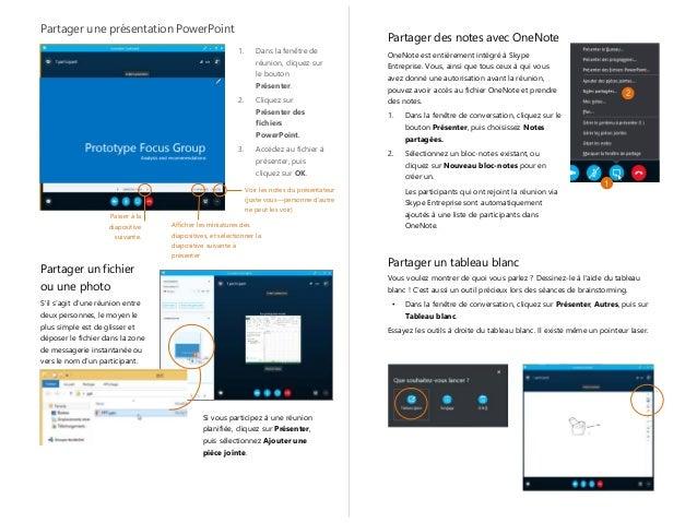 skype partage de document ppt