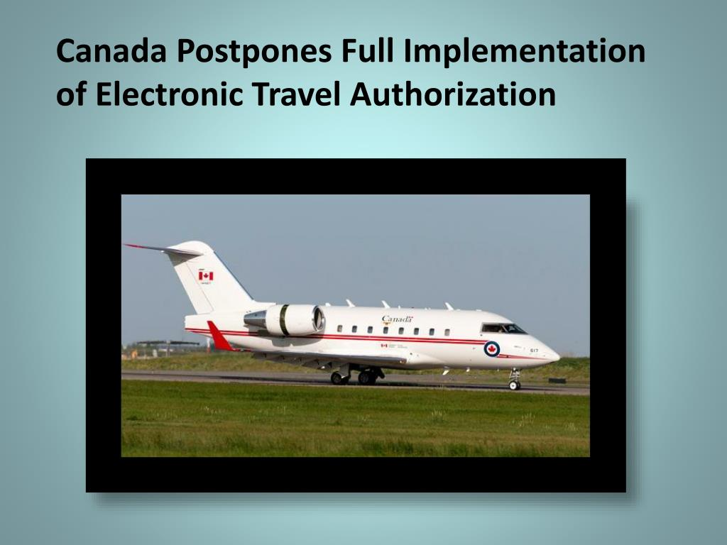electronic travel document travel to canada