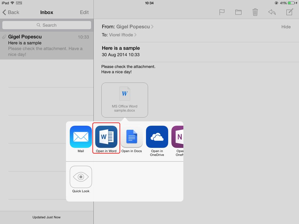 microsoft word document app for ipad