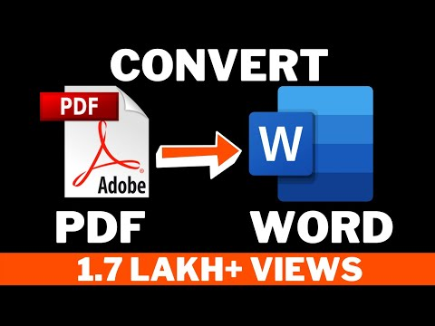 how do i convert a pdf file to word document