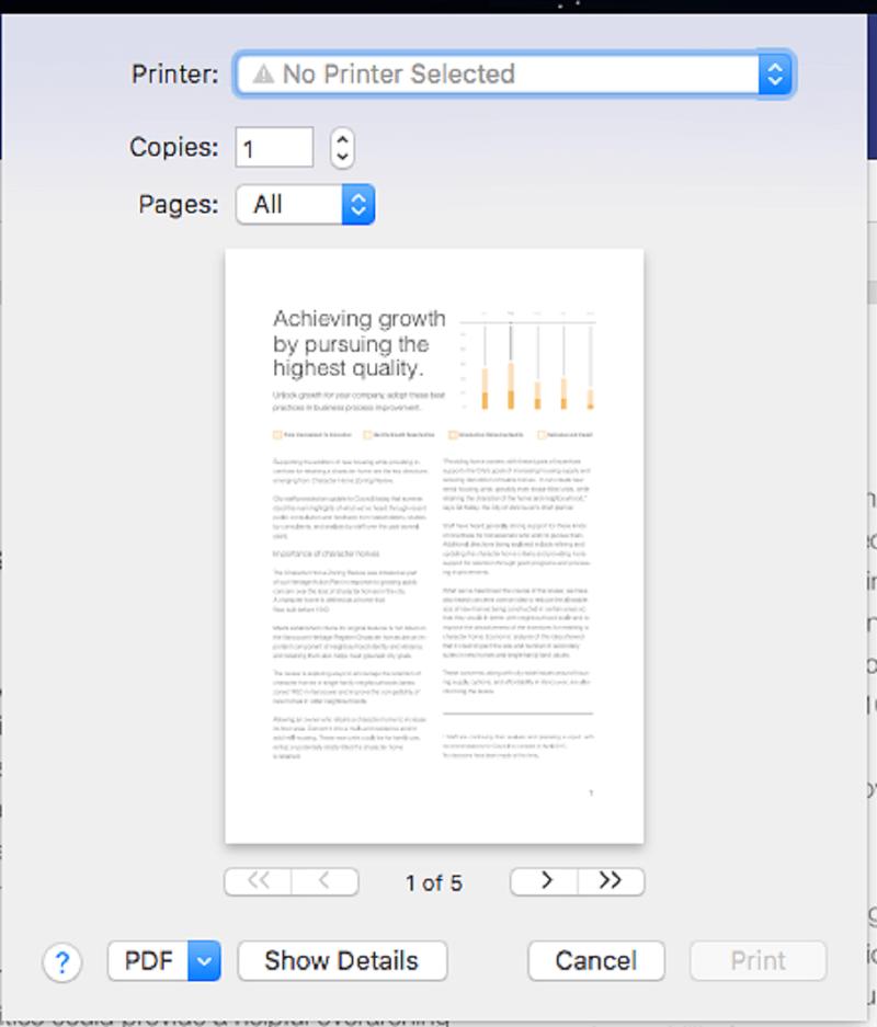 comment imprimer un document pdf sur mac