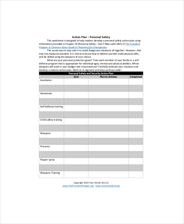 construction safety plan word document