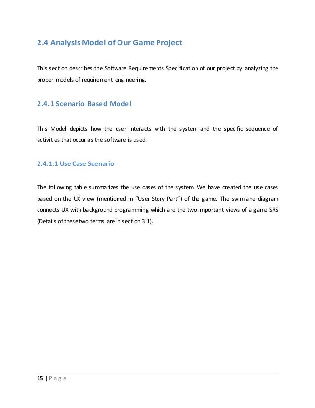 requirment analysis document for gaming website