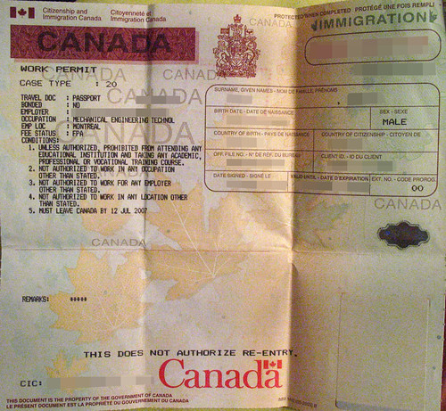 document number on study permit canada