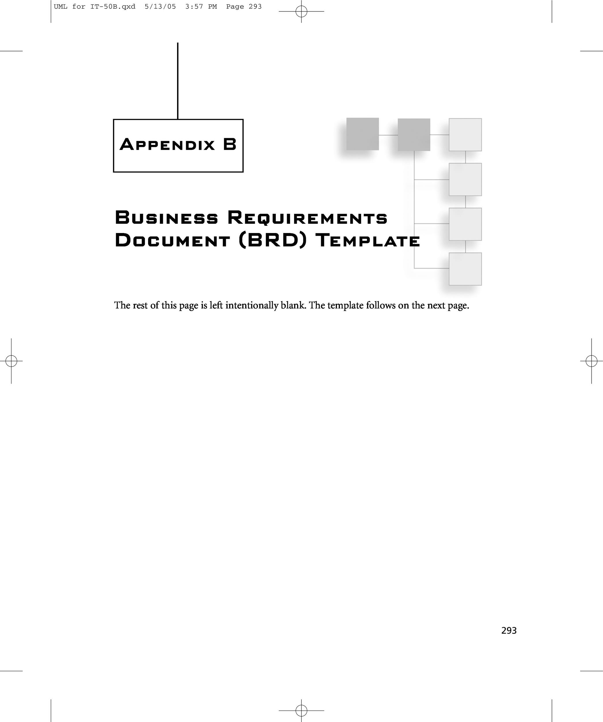 business intelligence requirements document sample