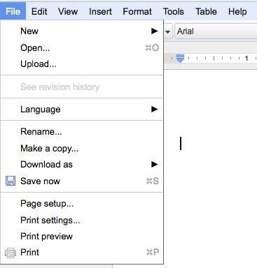 how to make a document landscape in google docs