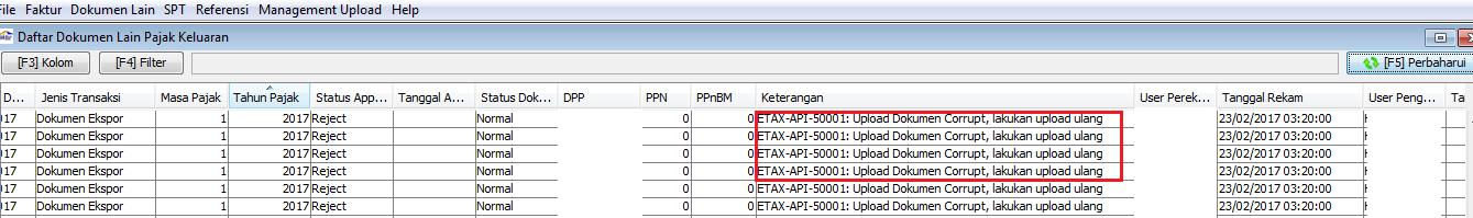 error upload document to cic