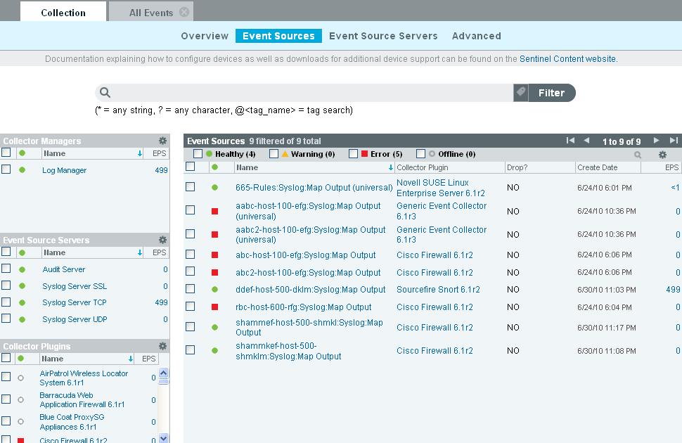 system event log documentation