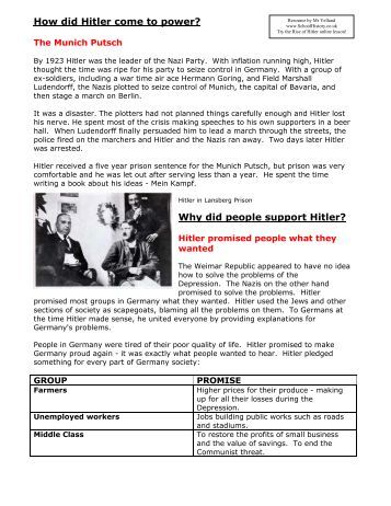 document packet why did the nazis come to power