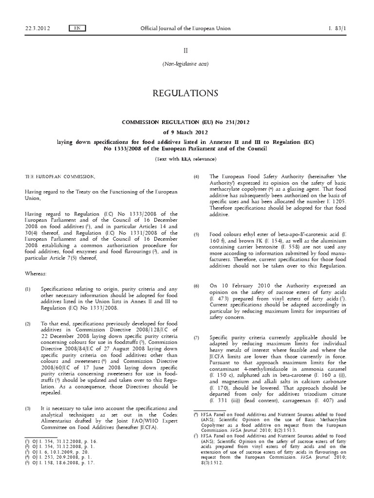 guidance document on the ec regulation on flavourings