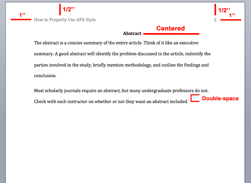 how do you apa format a word document