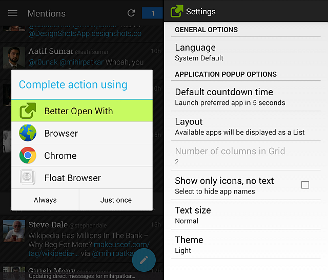 how to change what opens a document android