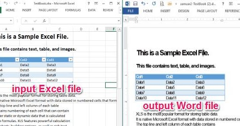 import word document into excel 2016