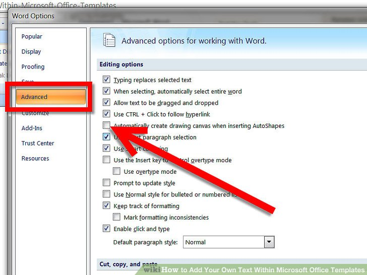 microsoft word add link within document