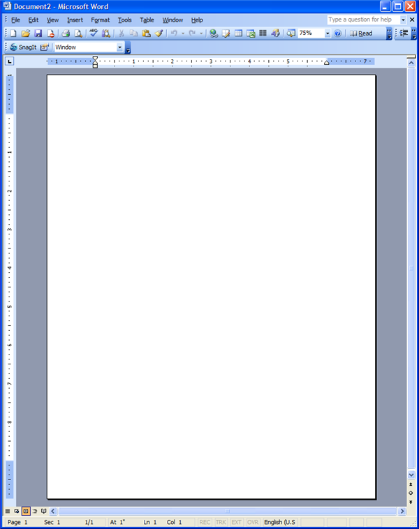 saved word document and its blank