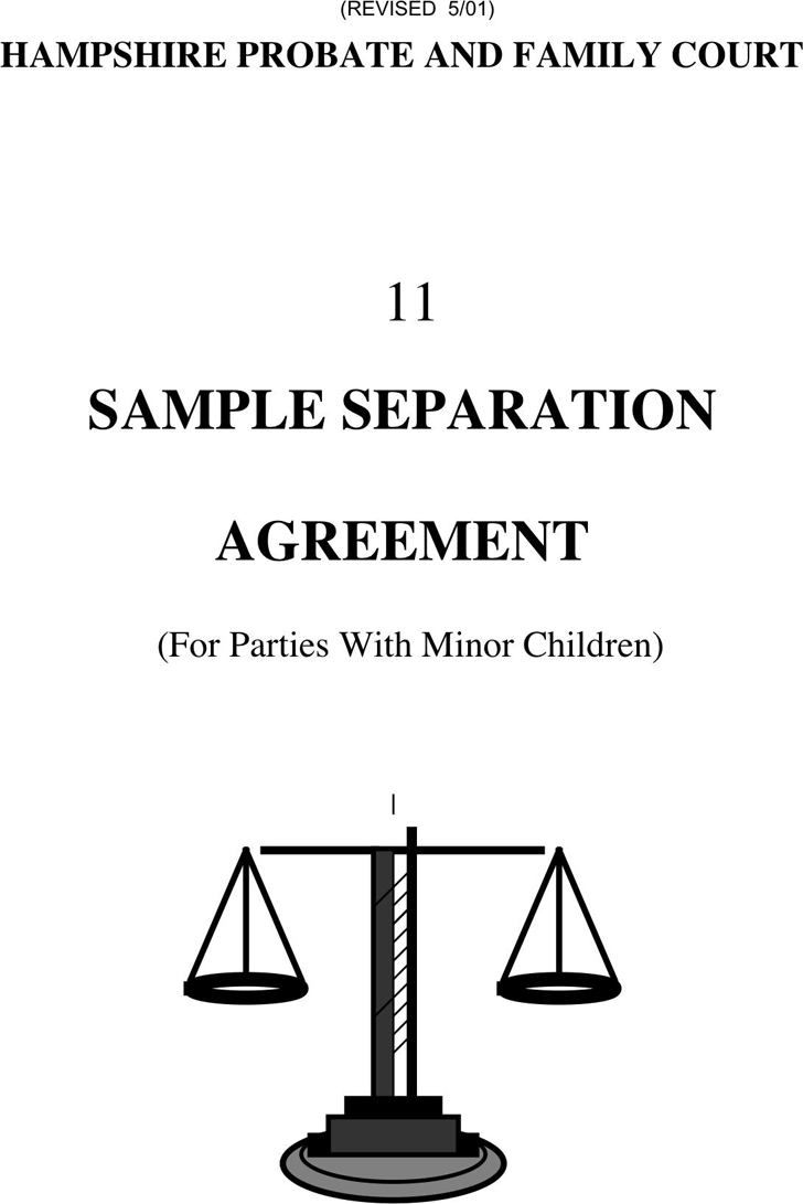 separation agreement ontario word document