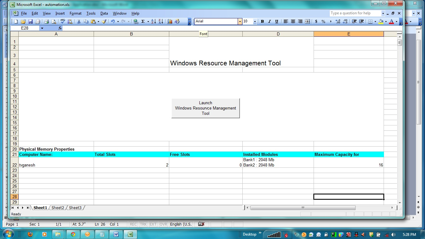 tick box in excel 2016 document