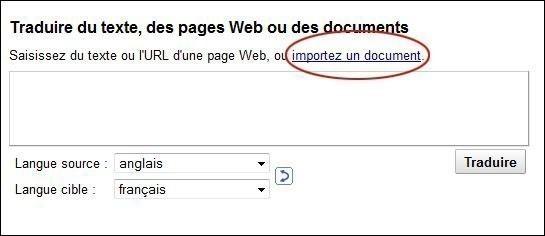 traduire un document en anglais